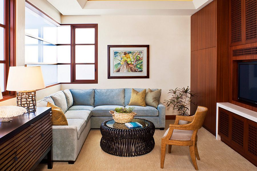 sofas for small rooms ideas unique apartments 20 tv that balance style with functionality beach room a comfy sectional design jeremy harnish designer finishes