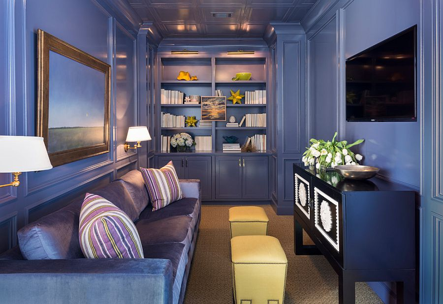 interior designing photos living room small wall decor ideas 20 tv rooms that balance style with functionality view in gallery brilliant monochromatic purple design tobi fairley