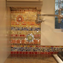 Mosaic Kitchen Tile Cleaning Wood Cabinets 18 Gleaming Backsplash Designs View In Gallery Colorful Glass And Ceramic
