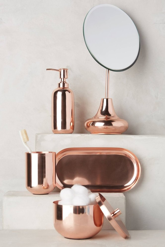 view in gallery copper bath accessories from anthropologie