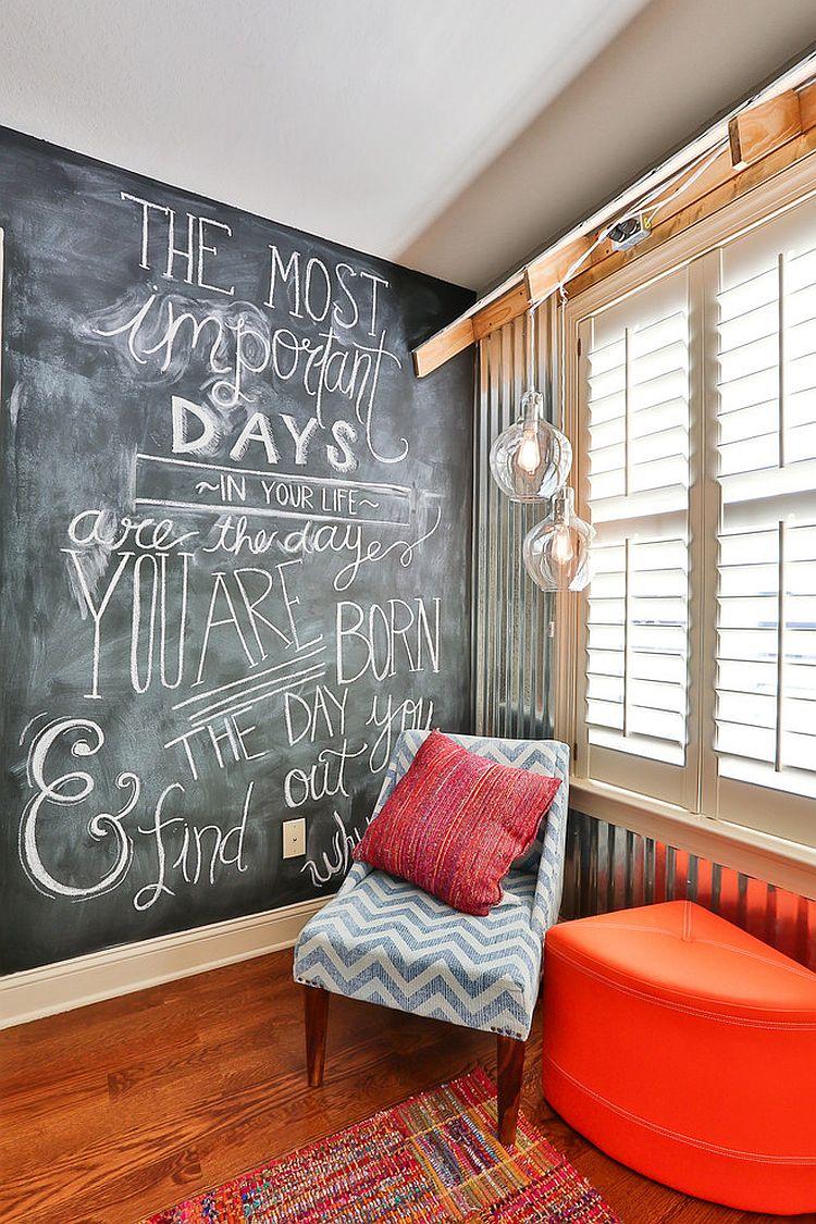 chalkboard bedroom wall