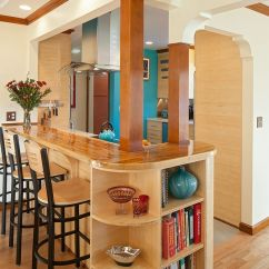 Diy Kitchen Counters Delta Linden Faucet Craftsman Style Island With Breakfast Bar And Open ...