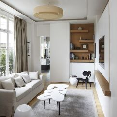 Small Living Room Modern L Shaped Sets 20 Tv Rooms That Balance Style With Functionality Elegant Scandinavian Design Bismut Architectes