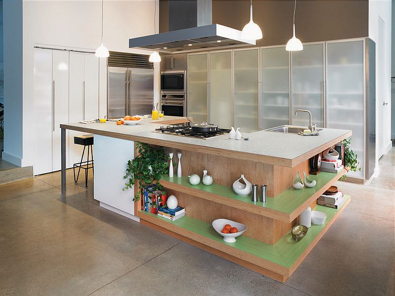 islands for the kitchen restaurant design trendy display 50 with open shelving view in gallery fabulous island shelves formica laminate worktop and ergonomic prep zone