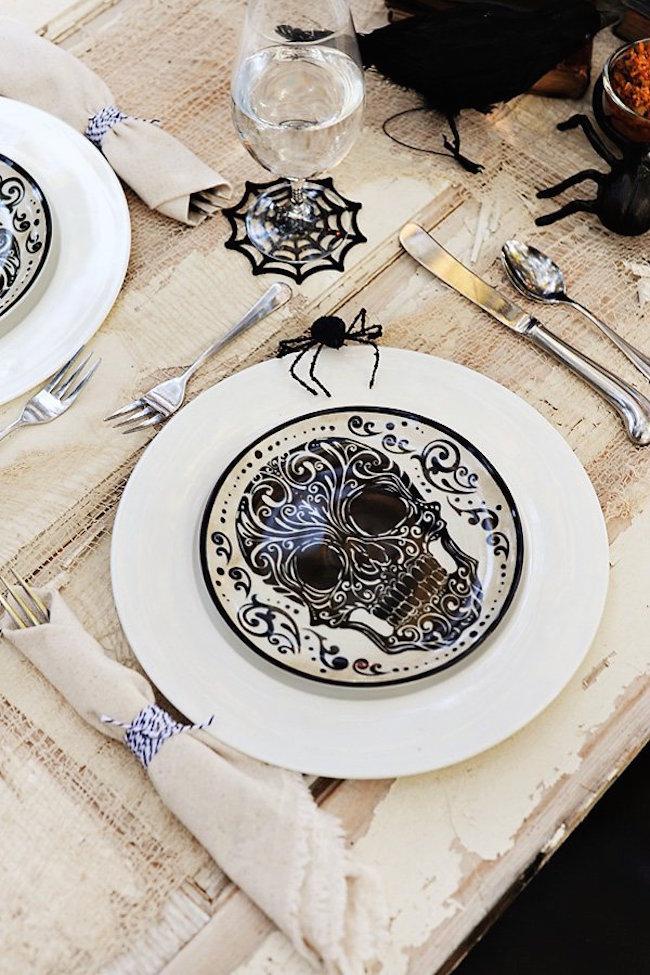 Full Size Of Kitchen Buffet Table Decor Carved Pumpkin Jack O Lantern Spider Web