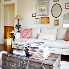 Trunk Coffee Table Living Room Furniture Curtain Ideas For 2017 2 16 Old Trunks Turned Tables That Bring Extra Storage And View In Gallery Brings Some Rustic Charm To A