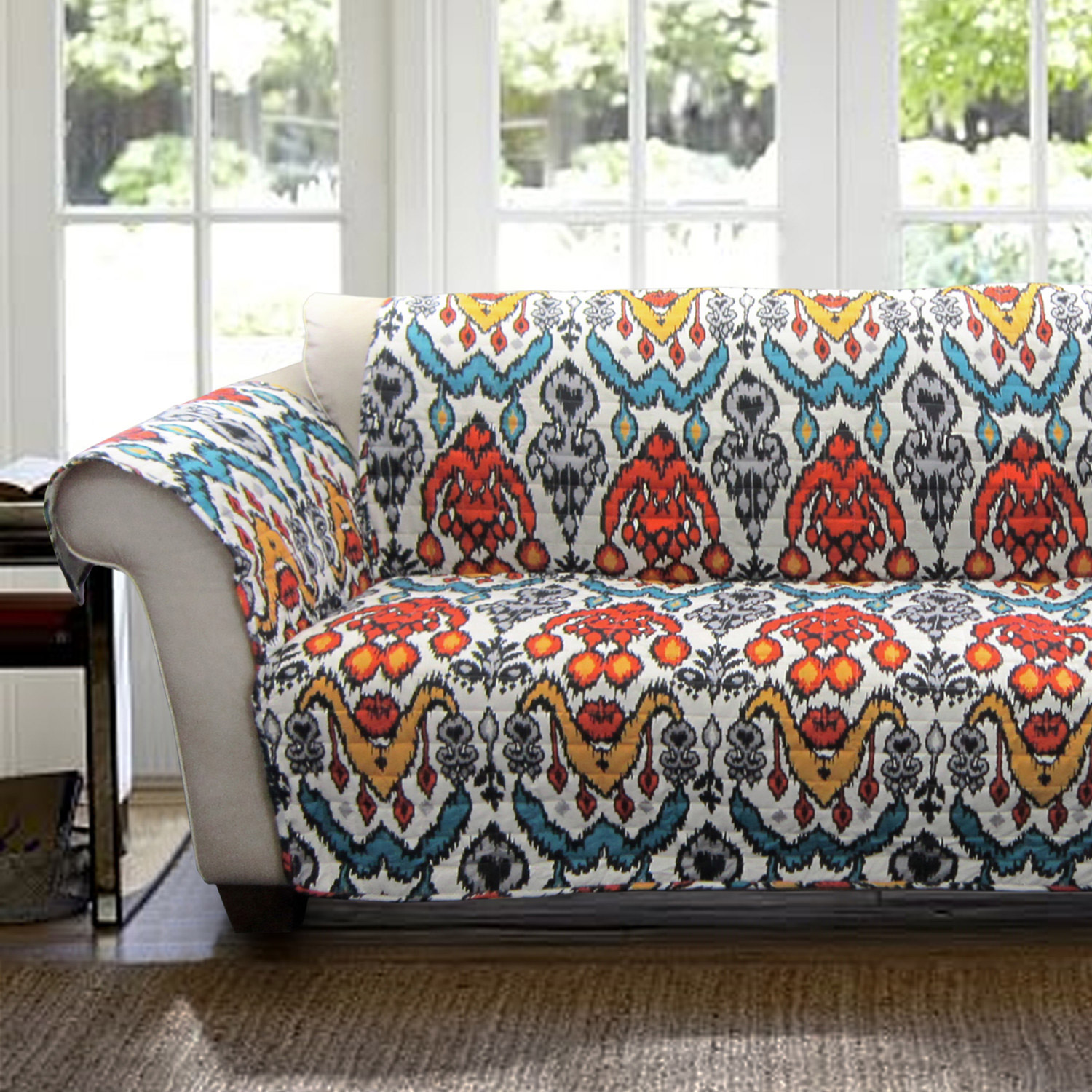 sofa fabric guard sofas couches furniture 8 ways to fall into autumn with rich, rust-colored home decor