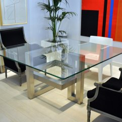 Metal Dining Chairs Johannesburg Neutral Posture Chair Warranty 20 Sleek Stainless Steel Tables View In Gallery Square Table With A Sculptural Base