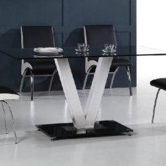 Steel Kitchen Table Sink 33x22 20 Sleek Stainless Dining Tables View In Gallery And Glass From Diytrade