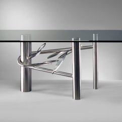 Steel Kitchen Table Lights For Over Sink 20 Sleek Stainless Dining Tables View In Gallery And Glass From Paul Freundt