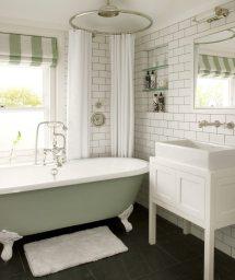 Bathroom with Clawfoot Tub and Shower Design Ideas