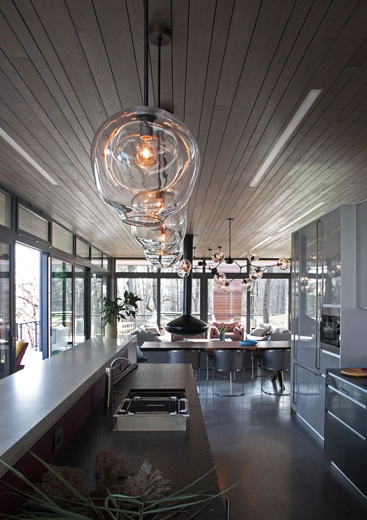cool kitchen lighting cabinets accessories 15 blown glass pendant ideas for a modern and ...