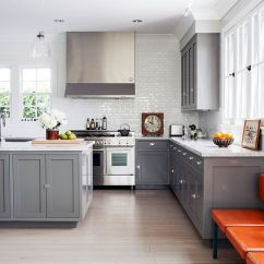 Gray Kitchen Cabinets Track Lighting For Kitchens 50 Gorgeous That Usher In Trendy Refinement Large Windows Bring Ample Natural Light Design Joe Schmelzer Treasurbite Studio