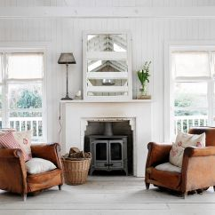 Shabby Chic Small Living Room Ideas Furniture 50 Resourceful And Classy Rooms Pair Of Weathered Leather Armchairs Make All The Difference In This Design