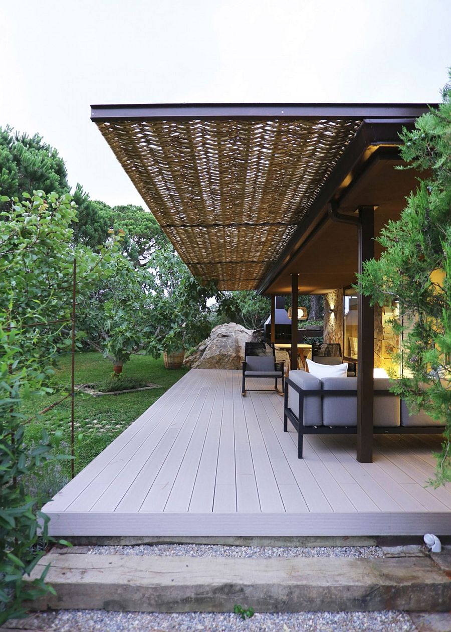 Wicker And Metal Pergola Transforms Mountain Guest House
