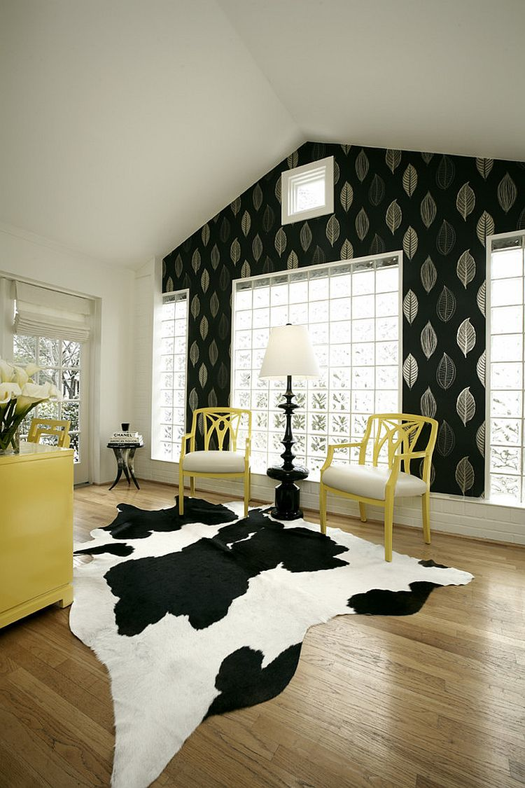 accent chairs gray pattern spiderman table and 30 black white home offices that leave you spellbound