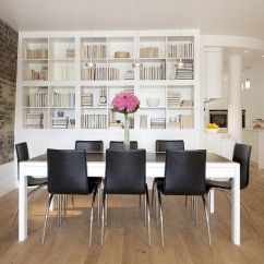 Decorating Ideas For Big Living Room Wall Contemporary Furniture Images 25 Dining Rooms And Library Combinations, Ideas, Inspirations