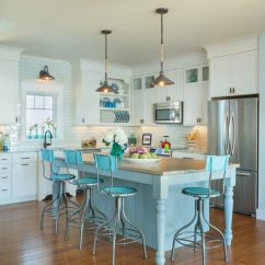 Island Stools For Kitchen Cutler And Bath Vanity 18 Brilliant Bar That Add A Serious Pop Of Color View In Gallery Bright Blue Go With The