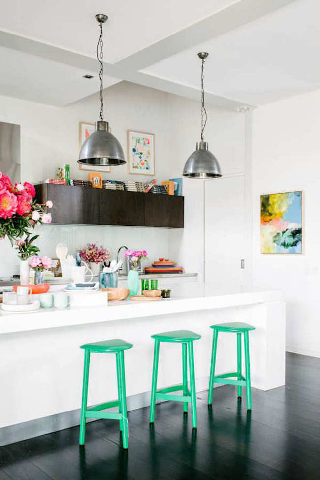 industrial kitchen island electronic scale 18 brilliant bar stools that add a serious pop of ...