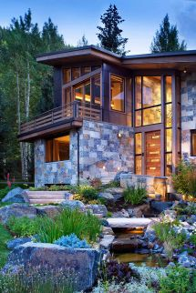 Colorado Mountain Home Suman Architects Leaves