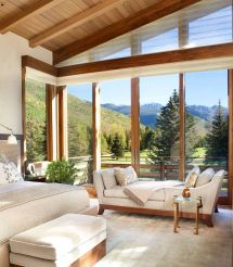 Mountain Modern Home Interior with View