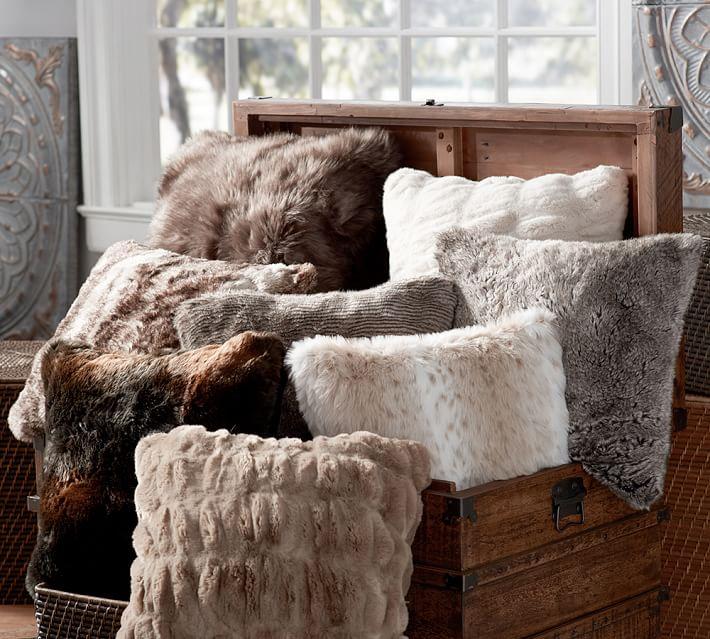 Fur Decorative Pillows