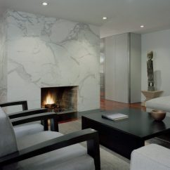 Modern Living Room Setup Eco Friendly Furniture 10 Beautiful Rooms With Marble Fireplaces View In Gallery A Sleek Fireplace