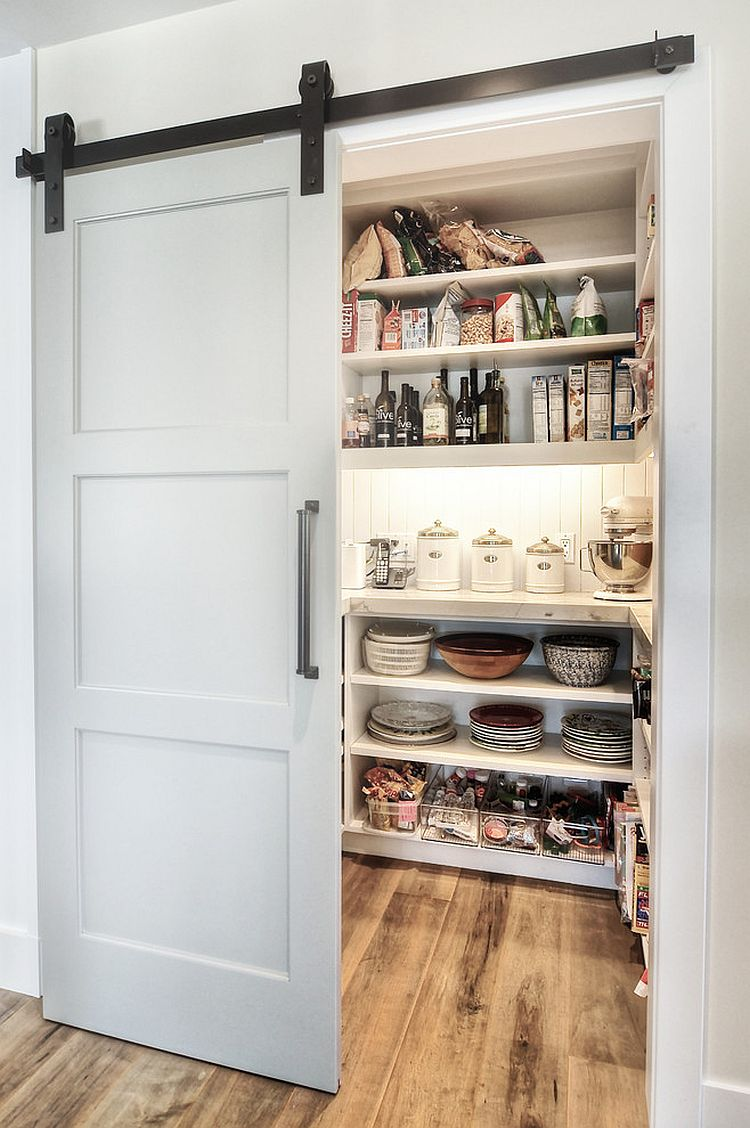 kitchen closets islands for kitchens 25 trendy that unleash the allure of sliding barn doors modern pantry design with an elegant door dwellings group