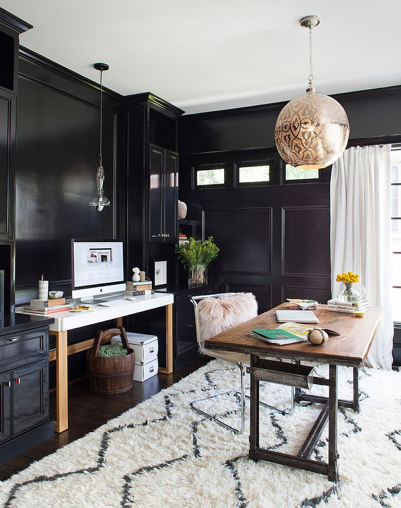Black And White Home Office Decor