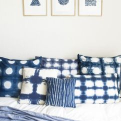 Anthropologie Sofa Leather Sectional Phoenix Az 17 Beautiful Decorative Uses Of Shibori Indigo Patterns