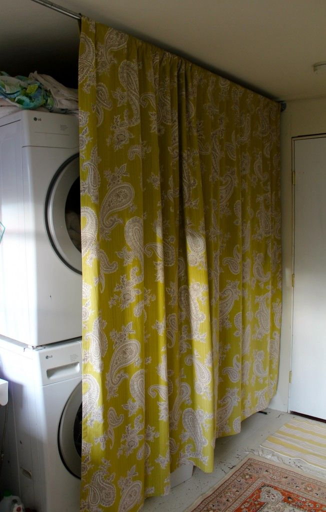 to hide a washing machine dryer in