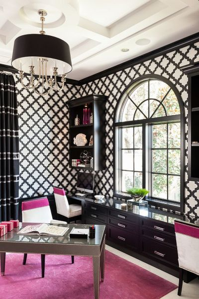 black and white home office 30 Black and White Home Offices That Leave You Spellbound