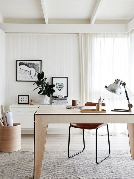 home office design interiors 30 Black and White Home Offices That Leave You Spellbound