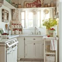 Widescreen Small Kitchen Design Shabby Chic For Smartphone Hd White Cottage Chic With Pops Of Red That Bowl You Over