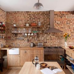 Faux Brick Kitchen Storage Baskets 50 Trendy And Timeless Kitchens With Beautiful Walls Contemporary In London Wooden Workstation Design Mdsx Contractors