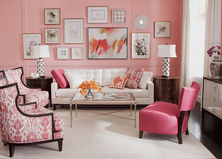 light pink living room ideas rooms pinterest 20 classy and cheerful