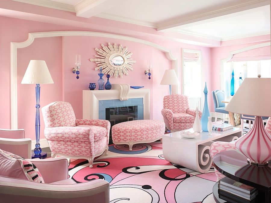 colors for living rooms 2016 modern curtain designs room 20 classy and cheerful pink view in gallery glamorous showcases pantone color of the year design anthony baratta