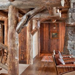 Kitchen Cabinets Custom Wood Top For Island Spanish Peaks Cabin: A Rustic Gateway To Big Sky's ...