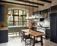 30 Inventive Kitchens with Stone Walls - Interior ...