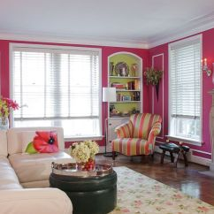 Fun Living Room Ideas Decor For Pictures 20 Classy And Cheerful Pink Rooms View In Gallery Corsage On The Walls Gives A Colorful Appeal Design