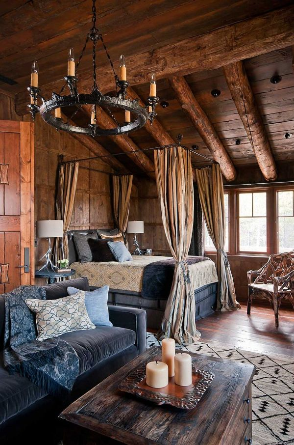 Rustic Log Cabin Bedroom Decor
