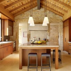 Eat In Kitchen Island Modern Handles 30 Inventive Kitchens With Stone Walls