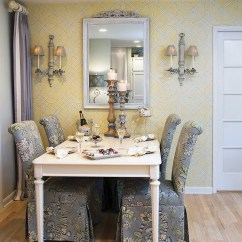 Top Colors For Living Rooms 2016 Room Curtains Photos Trendy Color Duo 20 Dining That Serve Up Gray And Yellow View In Gallery Traditional With Custom Chairs Steal The Show Design