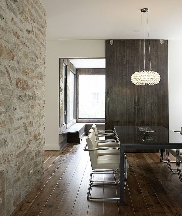 Gorgeous Dining Rooms With Stone Walls