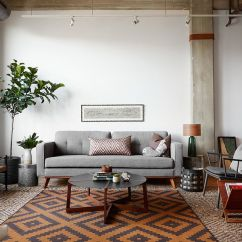 Contemporary Small Living Room Design Ideas Pink And Gray Trends Set To Make A Difference In 2016 View Gallery With Industrial Scandinavian Touches Jen Talbot