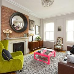 Lime Green Living Room Decorations Mini Bar Ideas For Vibrant New York City Townhouse Cuts Across Styles And Eras
