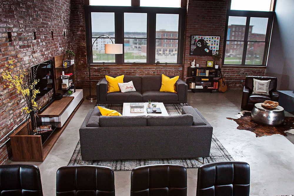 View In Gallery Living Room Of Urban Loft Kansas City Part 14