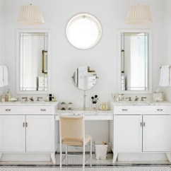 Vanity With Mirror And Chair Revolving For Baby The Luxury Look Of High-end Bathroom Vanities