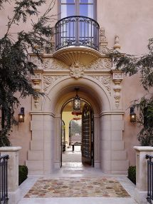 Mediterranean Front Entry Door Design