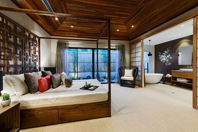 Stunning Master Bedroom With A Subtle Asian Flavor Design Webb Brown Neaves